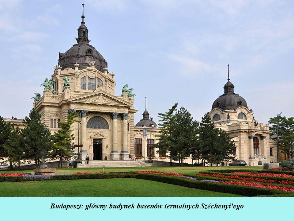 Kompleks basenów i term Széchenyi Fürdő łączy ze sobą tradycje starożytnych Rzymian i Greków oferując zarówno możliwość kąpieli w dużych, rozległych basenach, jak i indywidualnych wannach z wodą leczniczą.