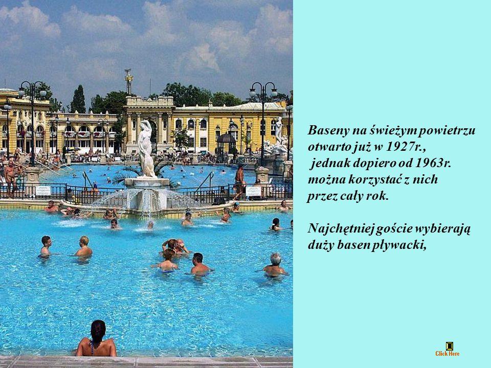 W basenach Széchenyi Fürdő leczniczych kąpieli zażywać mogą całe rodziny. W 1982r. otwarto przylegający do kąpieliska oddział fizykoterapii, działając