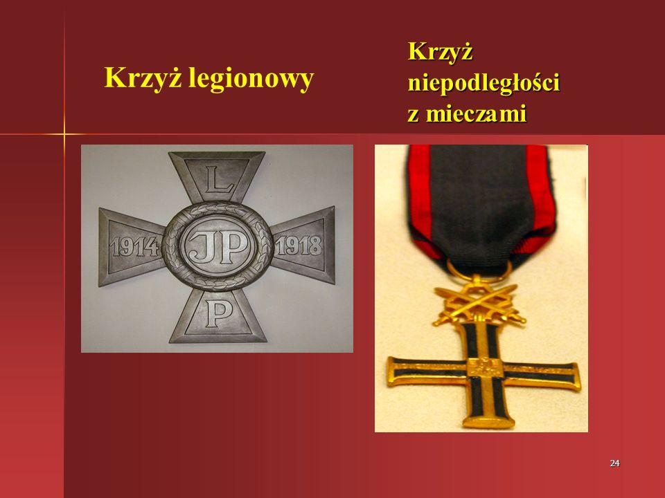 24 Krzyż legionowy Krzyż niepodległości z mieczami