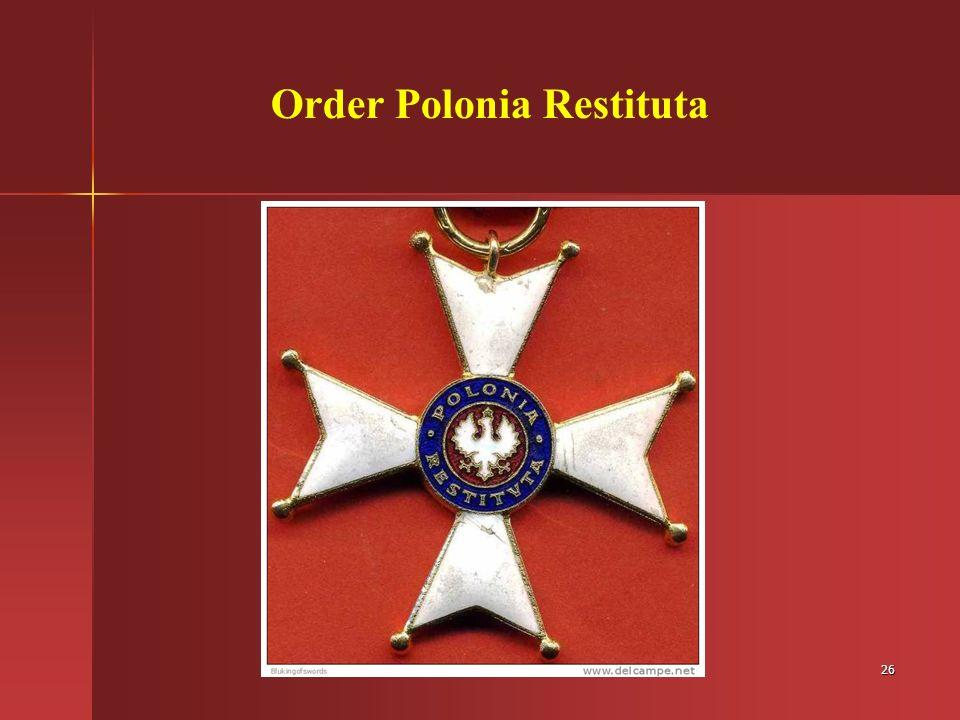 26 Order Polonia Restituta