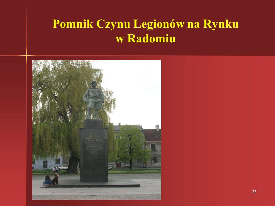 27 Pomnik Czynu Legionów na Rynku w Radomiu
