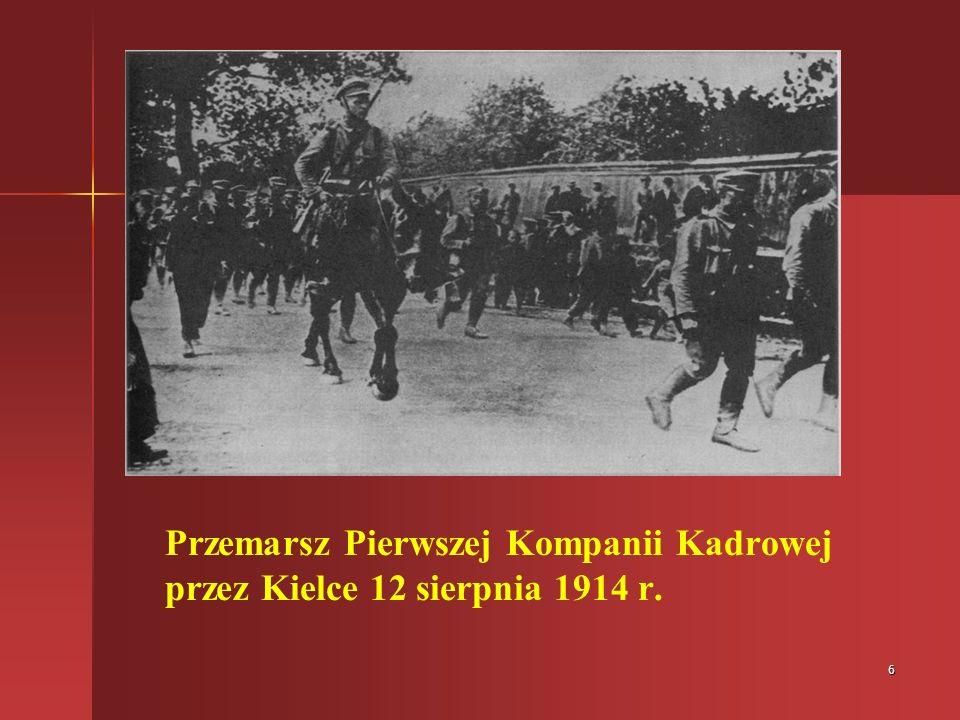 6 Przemarsz Pierwszej Kompanii Kadrowej przez Kielce 12 sierpnia 1914 r.