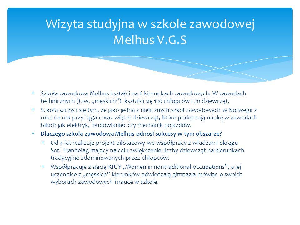  Szkoła zawodowa Melhus kształci na 6 kierunkach zawodowych.