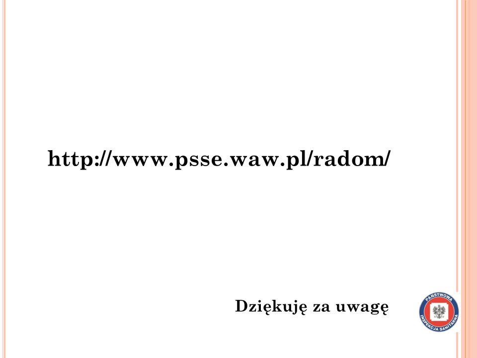 http://www.psse.waw.pl/radom/ Dziękuję za uwagę