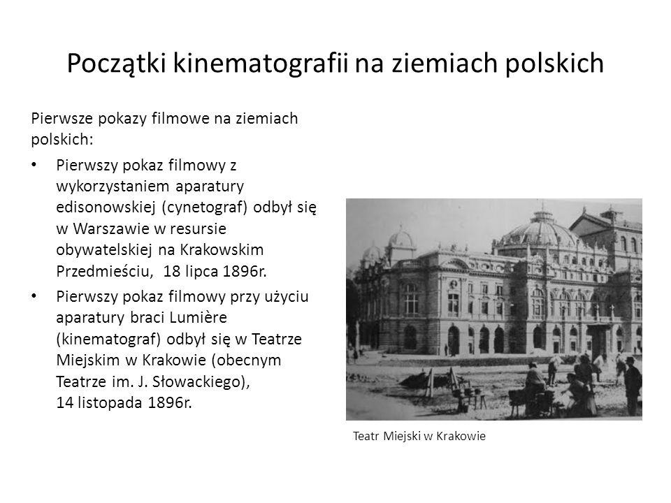 Pierwsze pokazy filmowe na ziemiach polskich: Pierwszy pokaz filmowy z wykorzystaniem aparatury edisonowskiej (cynetograf) odbył się w Warszawie w res