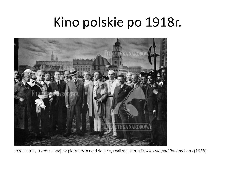 Kino polskie po 1918r. Józef Lejtes, trzeci z lewej, w pierwszym rzędzie, przy realizacji filmu Kościuszko pod Racławicami (1938)