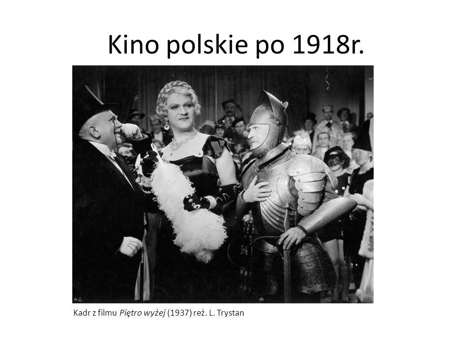 Kino polskie po 1918r. Kadr z filmu Piętro wyżej (1937) reż. L. Trystan