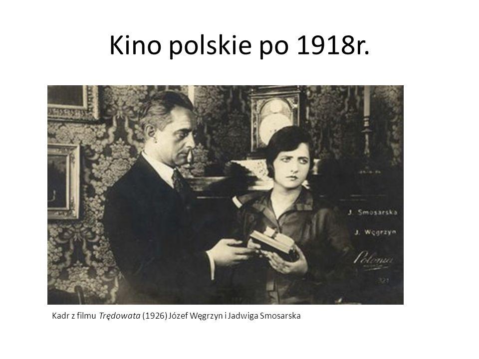 Kino polskie po 1918r. Kadr z filmu Trędowata (1926) Józef Węgrzyn i Jadwiga Smosarska
