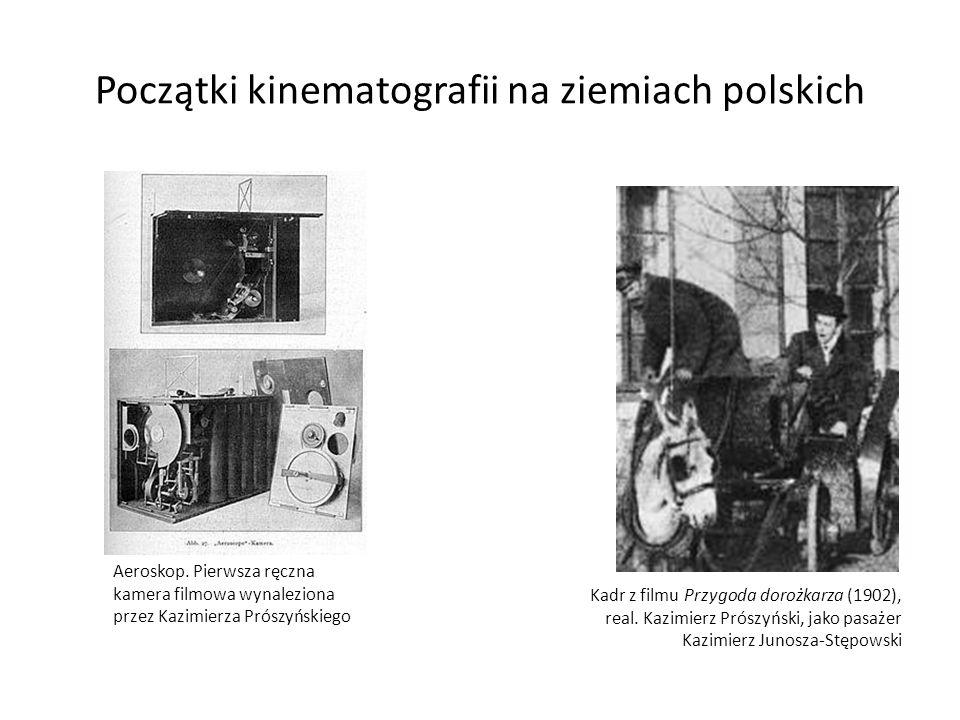 Początki kinematografii na ziemiach polskich Kadr z filmu Przygoda dorożkarza (1902), real. Kazimierz Prószyński, jako pasażer Kazimierz Junosza-Stępo
