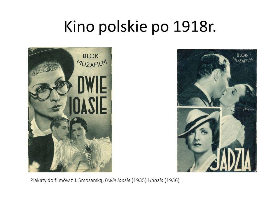 Kino polskie po 1918r. Plakaty do filmów z J. Smosarską, Dwie Joasie (1935) i Jadzia (1936)
