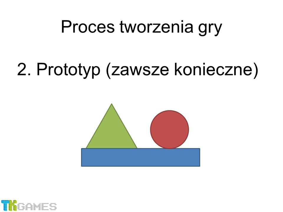 2. Prototyp (zawsze konieczne) Proces tworzenia gry