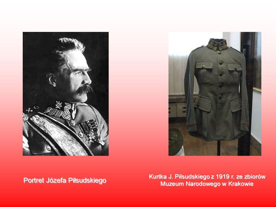 Portret Józefa Piłsudskiego Kurtka J. Piłsudskiego z 1919 r. ze zbiorów Muzeum Narodowego w Krakowie