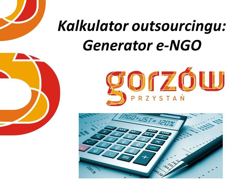 Kalkulator outsourcingu: Generator e-NGO