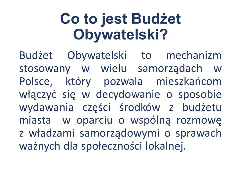 Jak realizuje się Budżet Obywatelski.