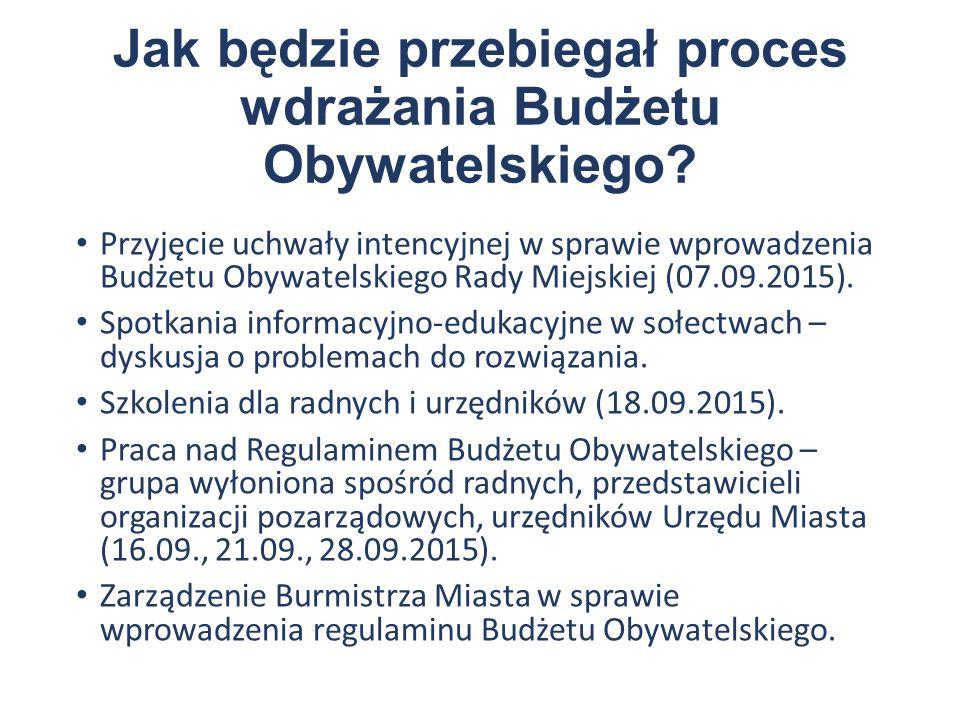 Jak będzie przebiegał proces wdrażania Budżetu Obywatelskiego.