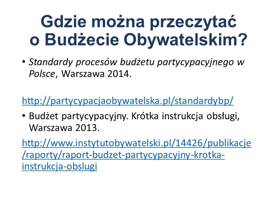Gdzie można przeczytać o Budżecie Obywatelskim.
