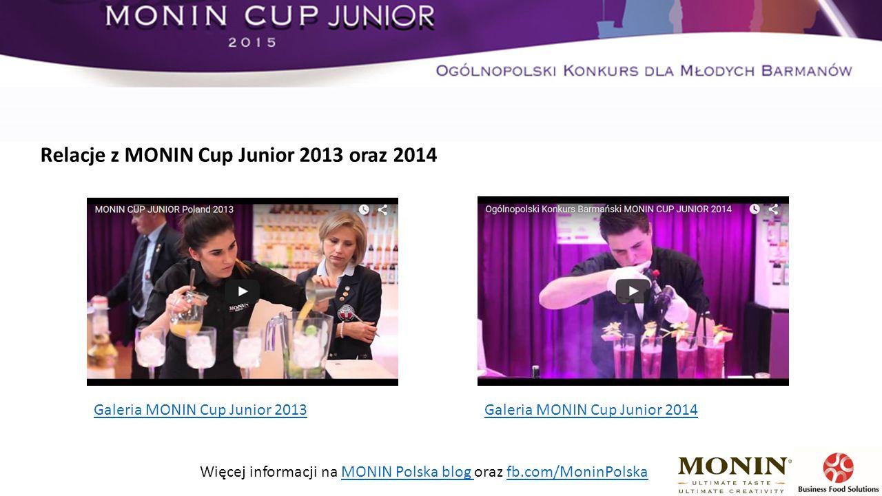 Galeria MONIN Cup Junior 2013 Galeria MONIN Cup Junior 2014 Więcej informacji na MONIN Polska blog oraz fb.com/MoninPolskaMONIN Polska blog fb.com/MoninPolska Relacje z MONIN Cup Junior 2013 oraz 2014
