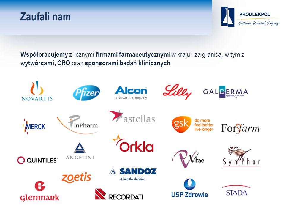 Zaufali nam Współpracujemy z licznymi firmami farmaceutycznymi w kraju i za granicą, w tym z wytwórcami, CRO oraz sponsorami badań klinicznych.