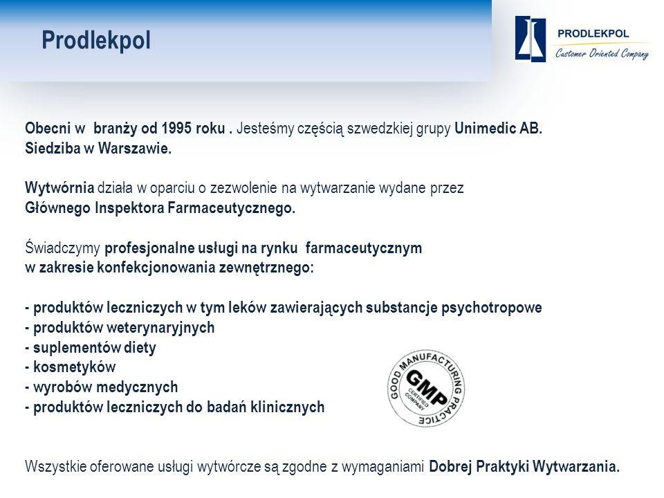 Obecni w branży od 1995 roku. Jesteśmy częścią szwedzkiej grupy Unimedic AB.