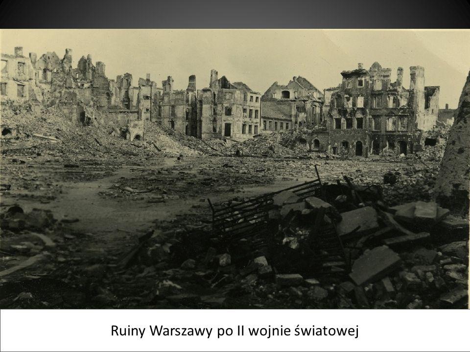 Ruiny Warszawy po II wojnie światowej