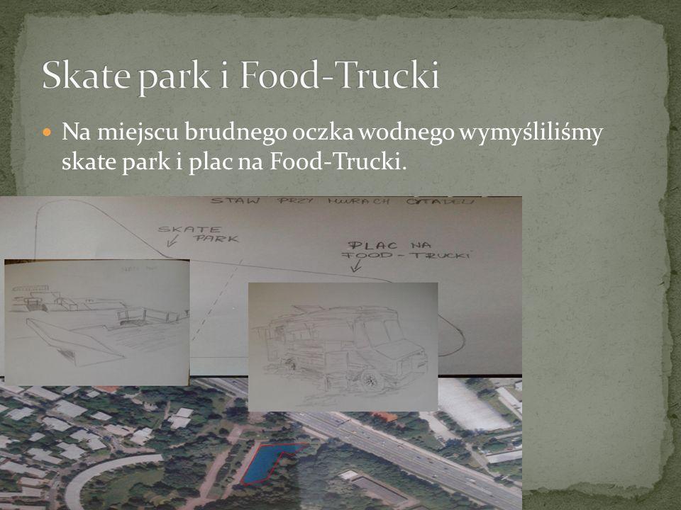 Na miejscu brudnego oczka wodnego wymyśliliśmy skate park i plac na Food-Trucki.