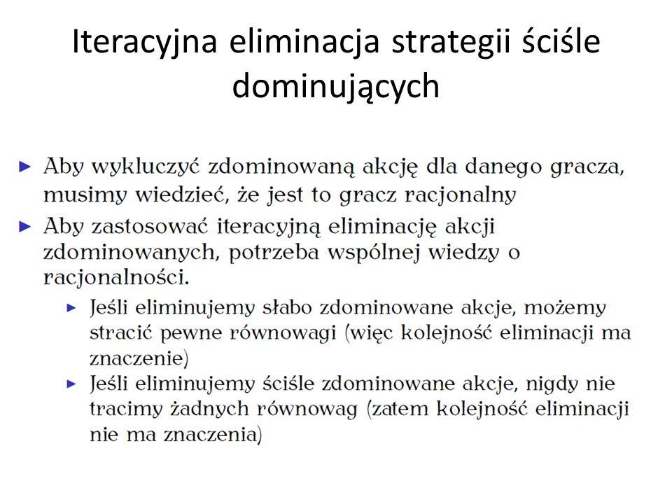 Iteracyjna eliminacja strategii ściśle dominujących