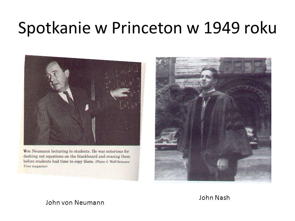 Spotkanie w Princeton w 1949 roku John von Neumann John Nash
