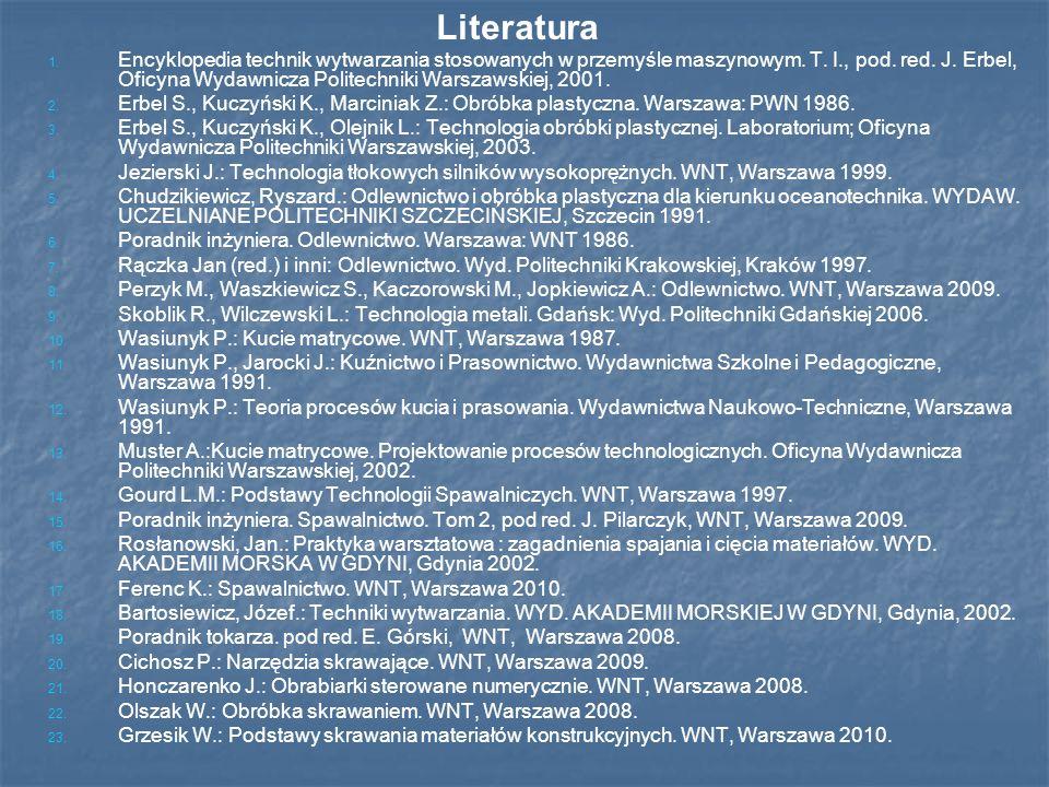 1.1. Encyklopedia technik wytwarzania stosowanych w przemyśle maszynowym.