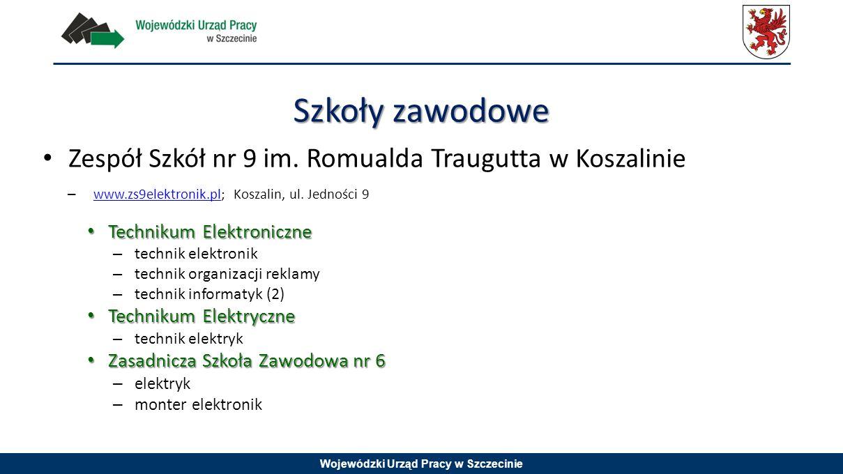 Wojewódzki Urząd Pracy w Szczecinie Zespół Szkół nr 9 im. Romualda Traugutta w Koszalinie – www.zs9elektronik.pl; Koszalin, ul. Jedności 9 www.zs9elek