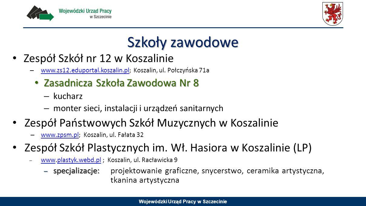 Wojewódzki Urząd Pracy w Szczecinie Zespół Szkół nr 12 w Koszalinie – www.zs12.eduportal.koszalin.pl; Koszalin, ul. Połczyńska 71a www.zs12.eduportal.