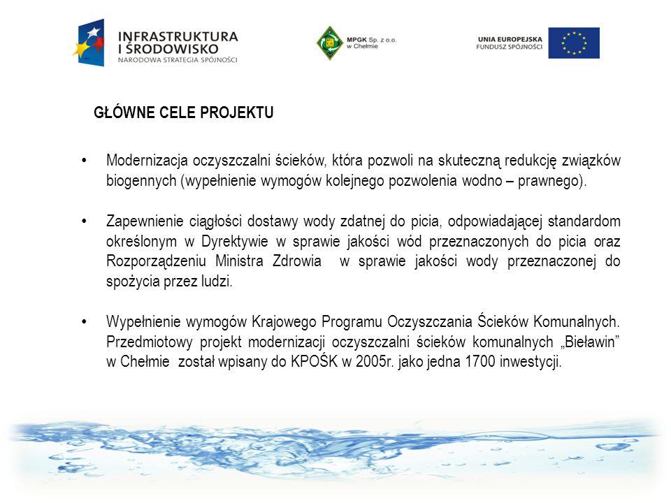 Modernizacja oczyszczalni ścieków, która pozwoli na skuteczną redukcję związków biogennych (wypełnienie wymogów kolejnego pozwolenia wodno – prawnego)
