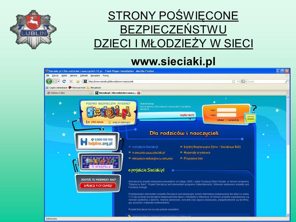 STRONY POŚWIĘCONE BEZPIECZEŃSTWU DZIECI I MŁODZIEŻY W SIECI www.helpline.org.pl