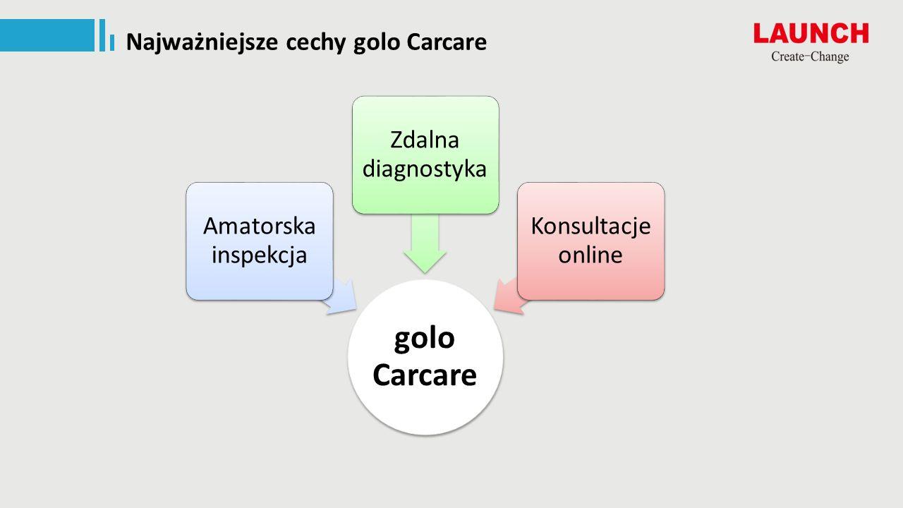 Najważniejsze cechy golo Carcare golo Carcare Amatorska inspekcja Zdalna diagnostyka Konsultacje online