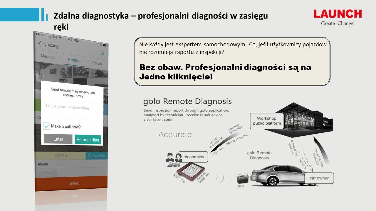Zdalna diagnostyka – profesjonalni diagności w zasięgu ręki Bez obaw.