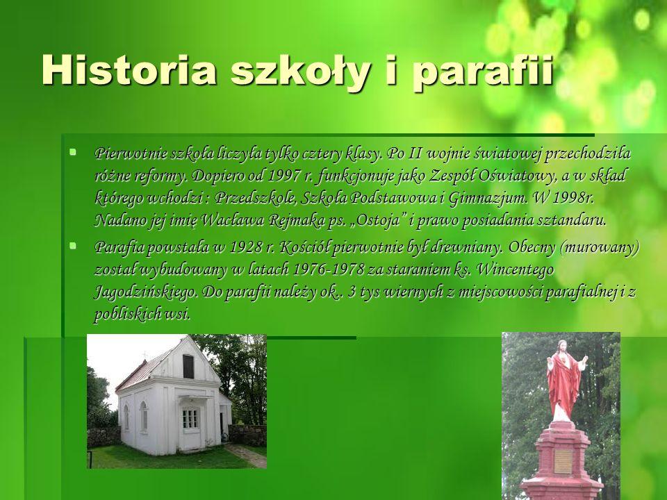 Historia szkoły i parafii  Pierwotnie szkoła liczyła tylko cztery klasy.