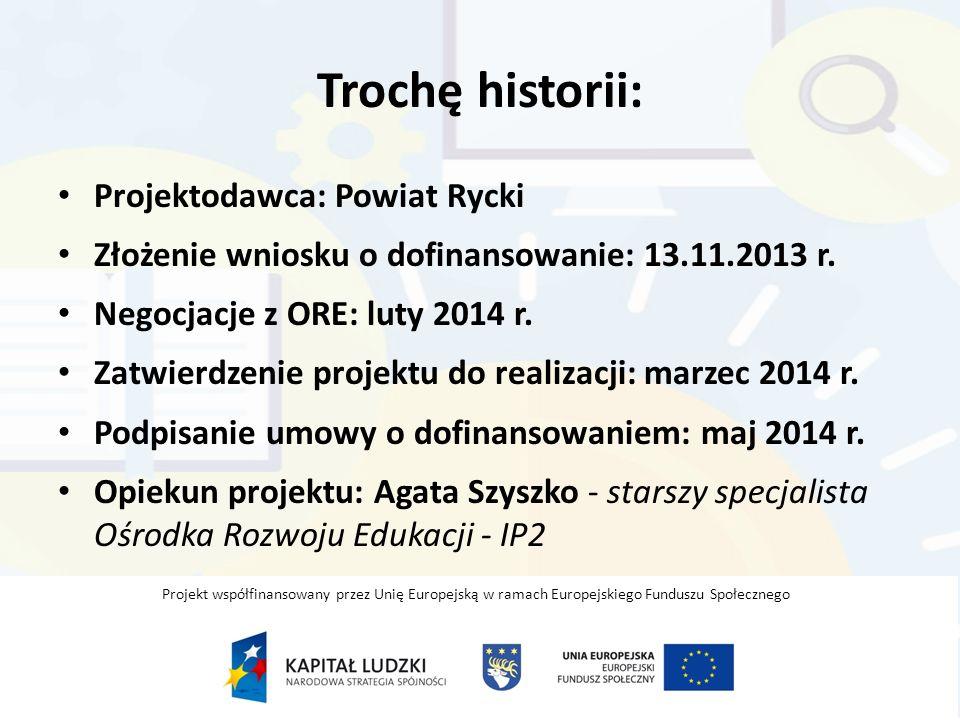 Okres realizacji projektu: 01.04.2014 r.– 30.09.2015 r.