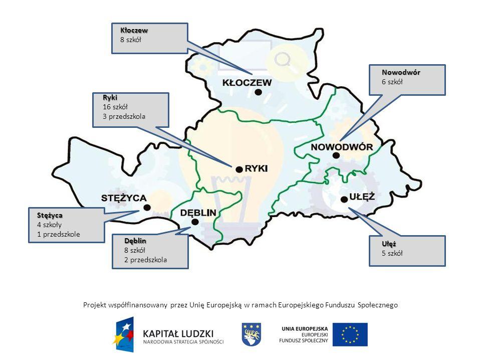 DZIĘKUJĘ ZA UWAGĘ Projekt współfinansowany przez Unię Europejską w ramach Europejskiego Funduszu Społecznego