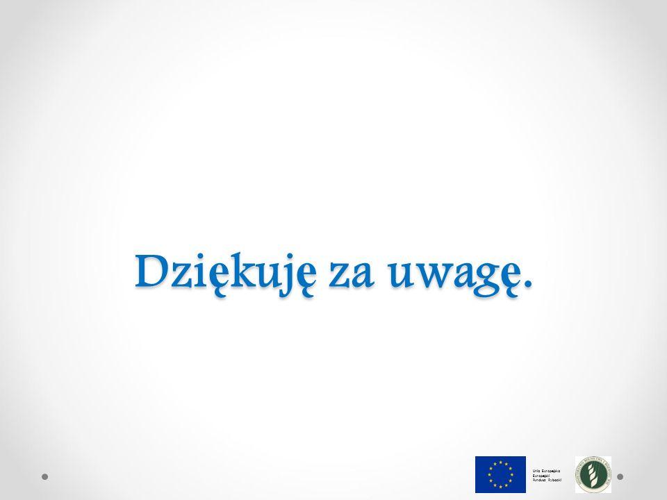 Dzi ę kuj ę za uwag ę. Unia Europejska Europejski Fundusz Rybacki
