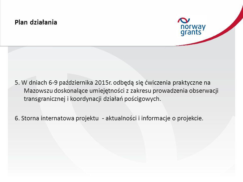 Plan działania 5. W dniach 6-9 października 2015r.