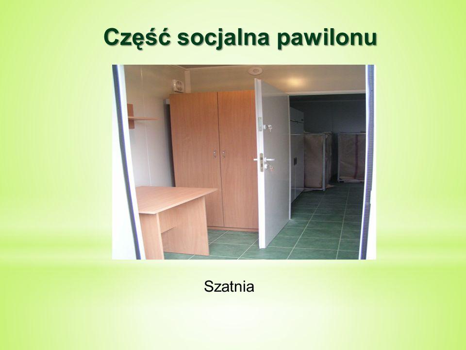Część socjalna pawilonu Szatnia