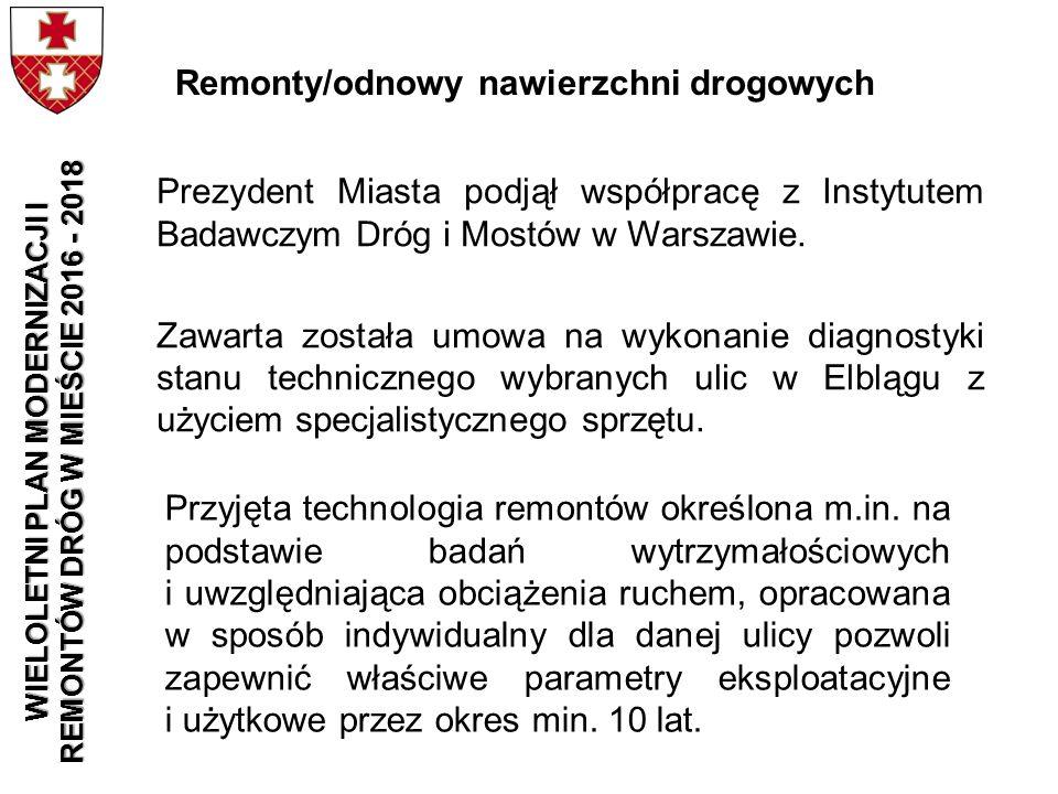 Prezydent Miasta podjął współpracę z Instytutem Badawczym Dróg i Mostów w Warszawie. Zawarta została umowa na wykonanie diagnostyki stanu technicznego