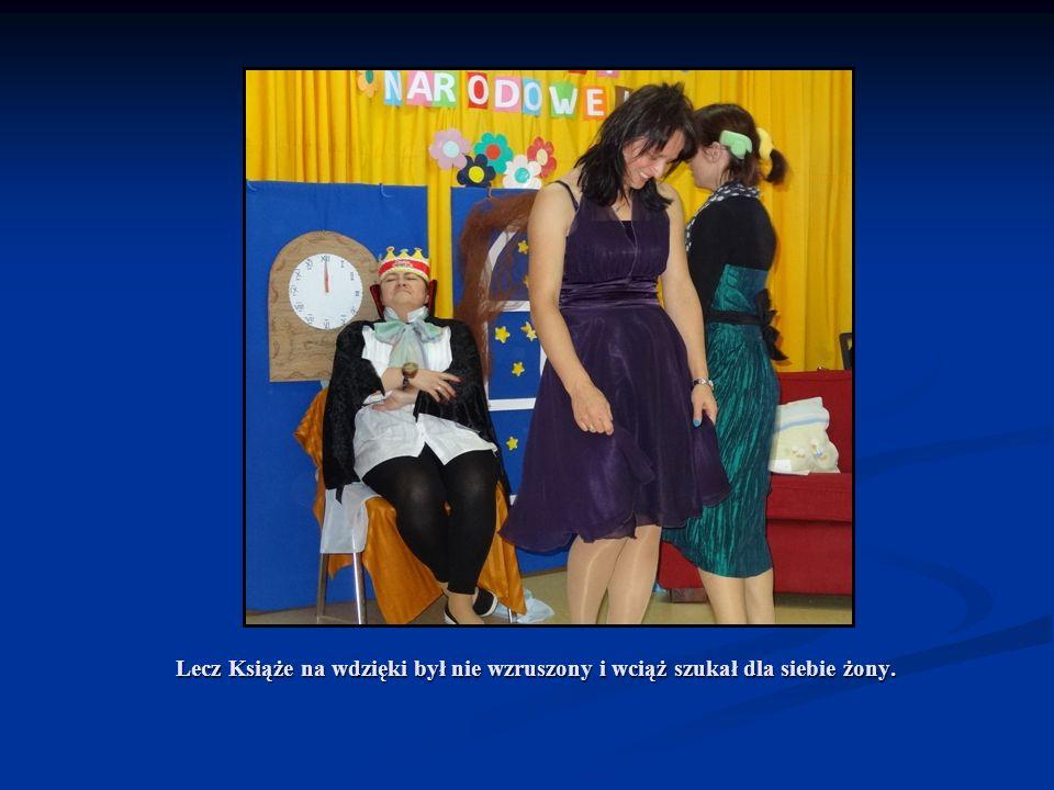 Lecz Książe na wdzięki był nie wzruszony i wciąż szukał dla siebie żony.