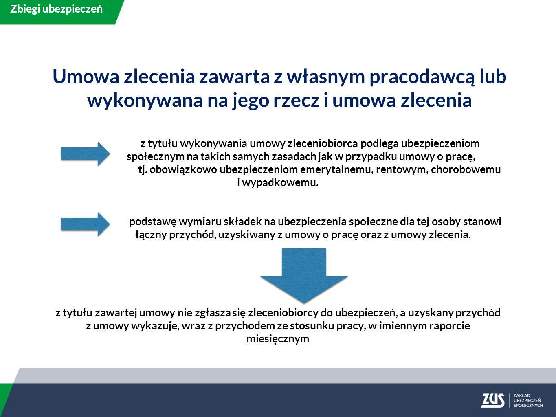 z tytułu wykonywania umowy zleceniobiorca podlega ubezpieczeniom społecznym na takich samych zasadach jak w przypadku umowy o pracę, tj.