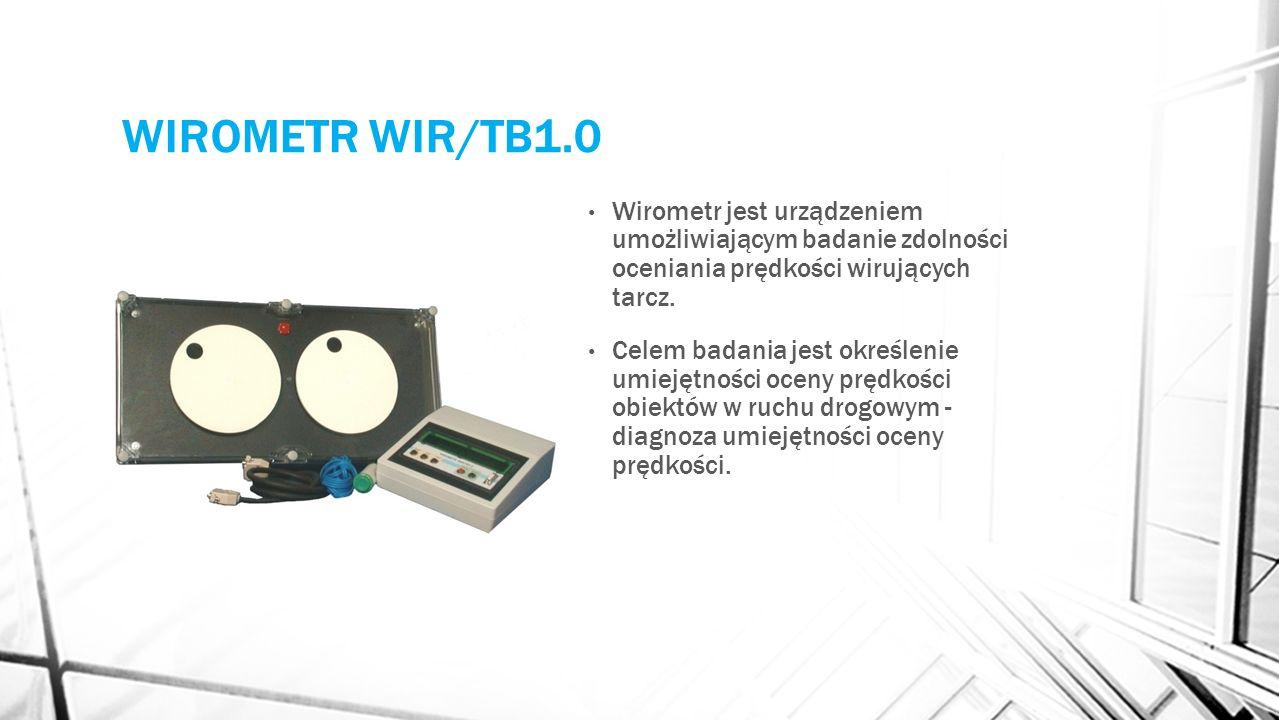 MIERNIK CZASU REAKCJI MCZR/TB 1.0 Pomiar szybkości reakcji prostej na bodźce świetlne i dźwiękowe (pomiar refleksu dowolną wybraną kończyną).