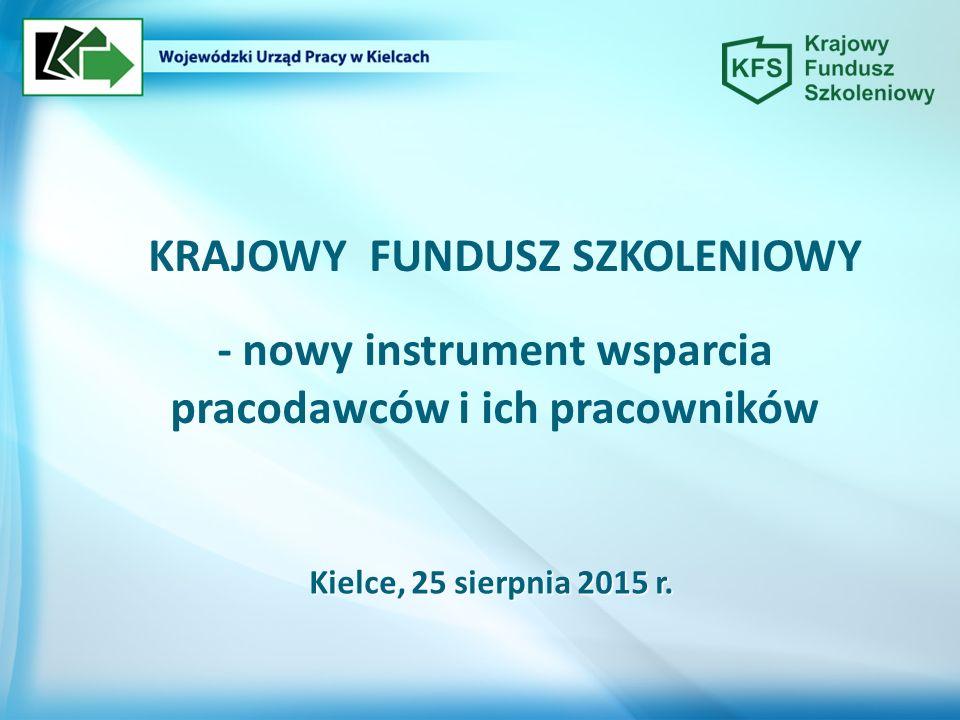 - nowy instrument wsparcia pracodawców i ich pracowników Kielce, 25 sierpnia 2015 r.