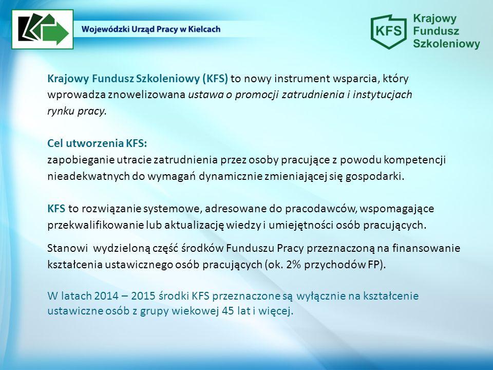 Krajowy Fundusz Szkoleniowy (KFS) to nowy instrument wsparcia, który wprowadza znowelizowana ustawa o promocji zatrudnienia i instytucjach rynku pracy.