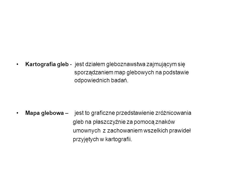 Rodzaje map glebowych I.