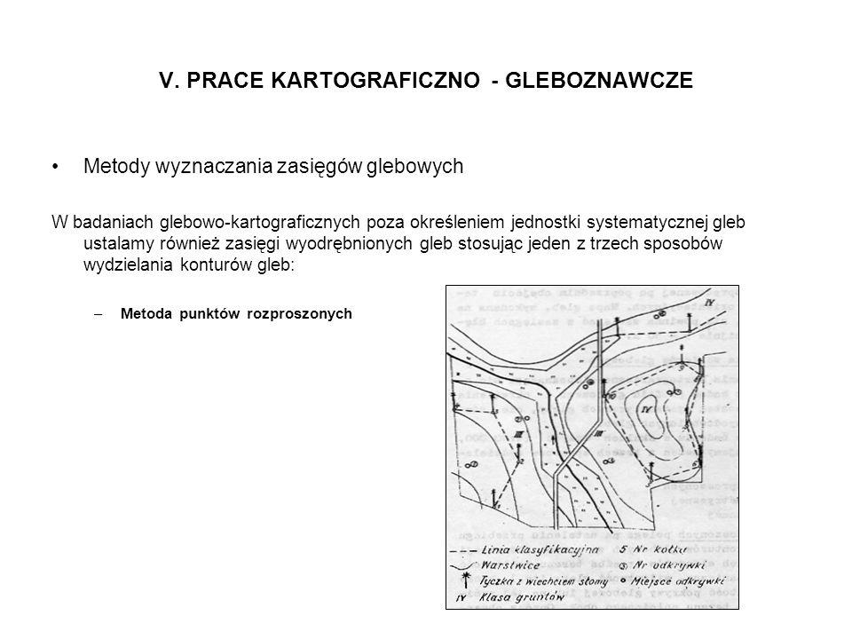 V. PRACE KARTOGRAFICZNO - GLEBOZNAWCZE Metody wyznaczania zasięgów glebowych W badaniach glebowo-kartograficznych poza określeniem jednostki systematy