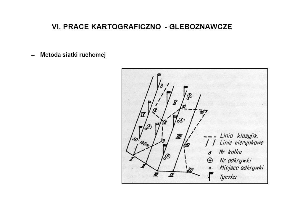 VI. PRACE KARTOGRAFICZNO - GLEBOZNAWCZE –Metoda siatki ruchomej