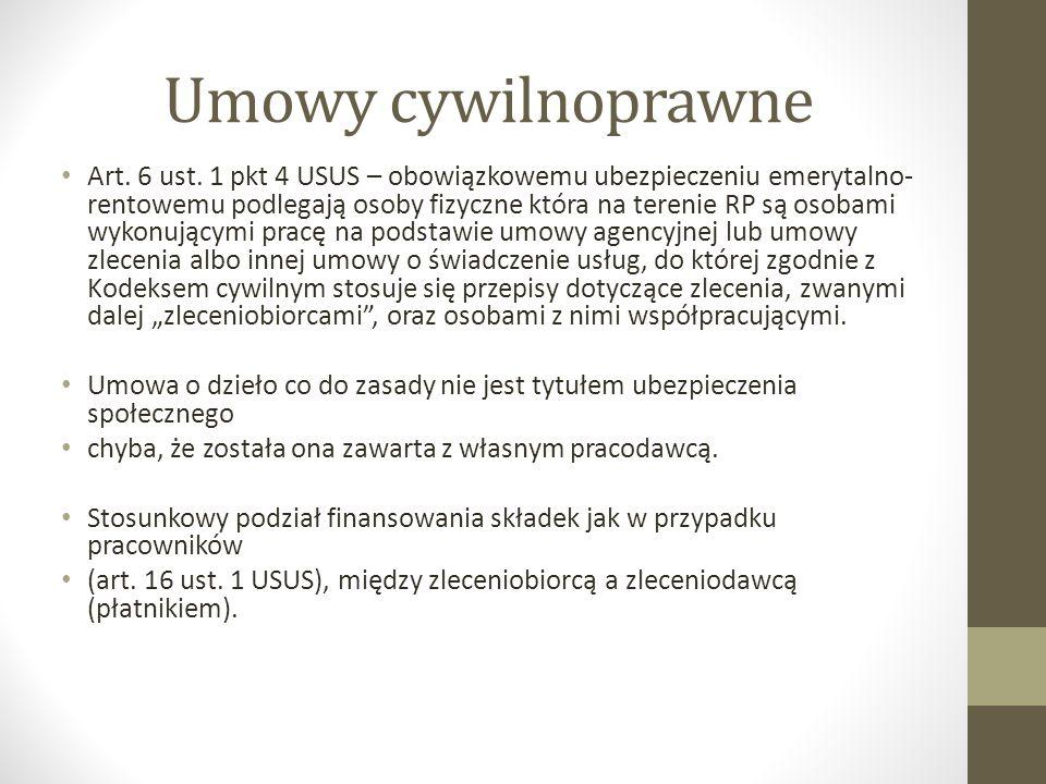 Umowy cywilnoprawne Art.6 ust.